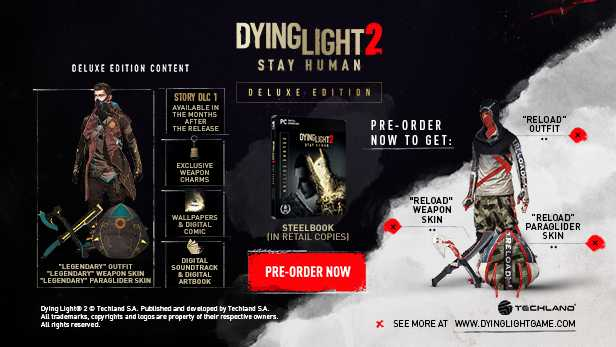 Dying Light 2 Stay Human Pre ORDER DELUXE EDITION