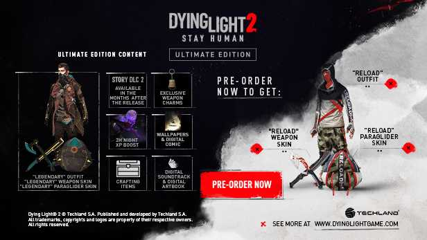 Dying Light 2 Stay Human Pre ORDER ULTIMATE EDITION