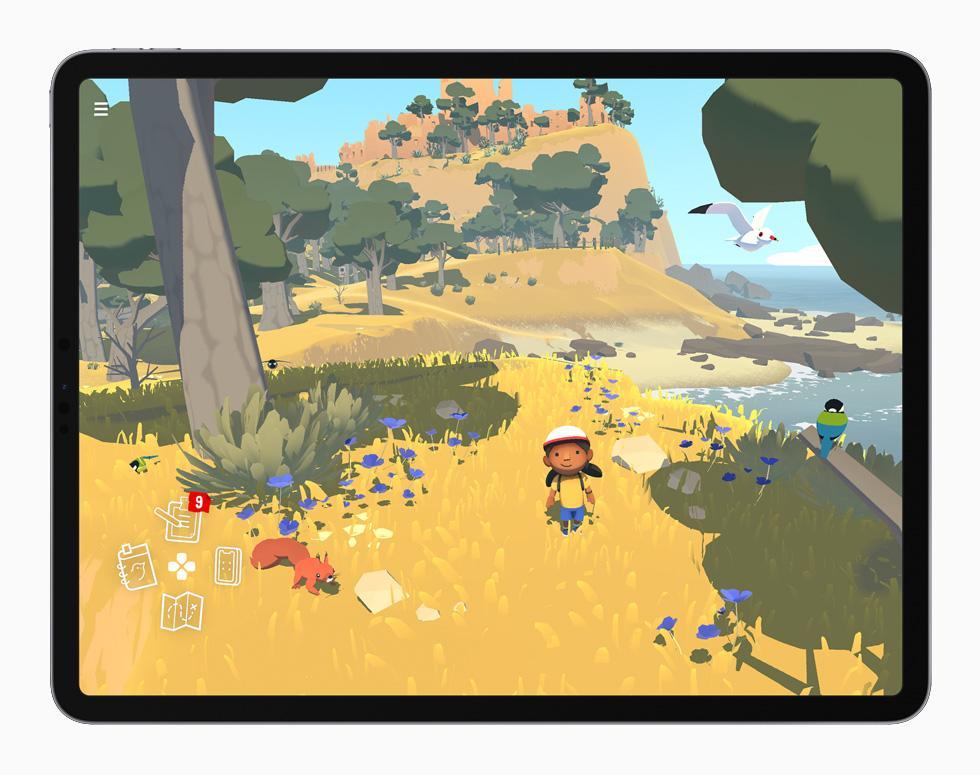 在 iPad Pro 上展示《Alba》。