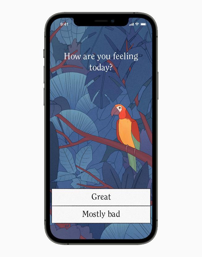 在 iPhone 12 Pro 上展示《Bird Alone》的遊玩體驗。